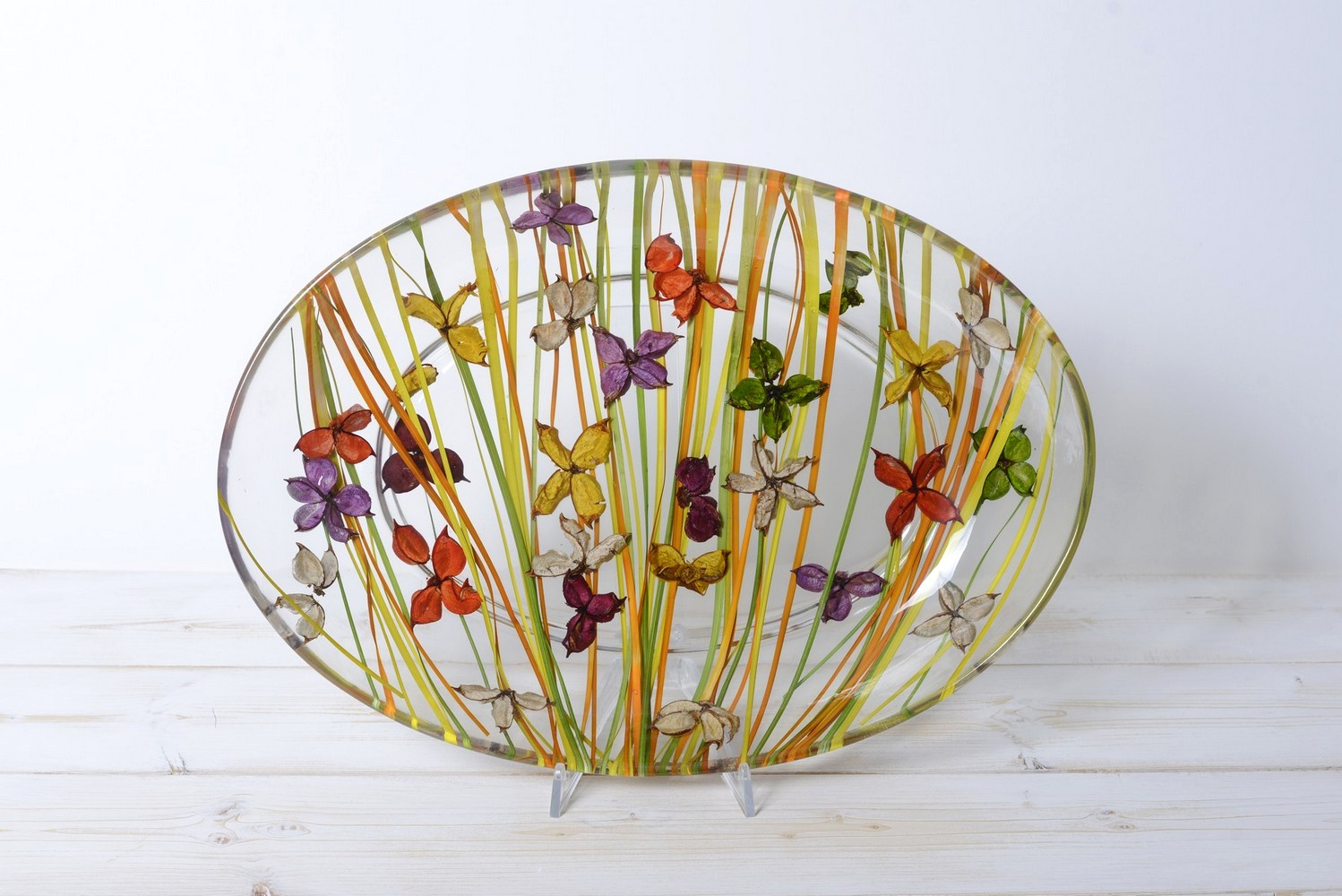 Oval Tray/Centerpiece Butterfly Collection cm 32x46 h7