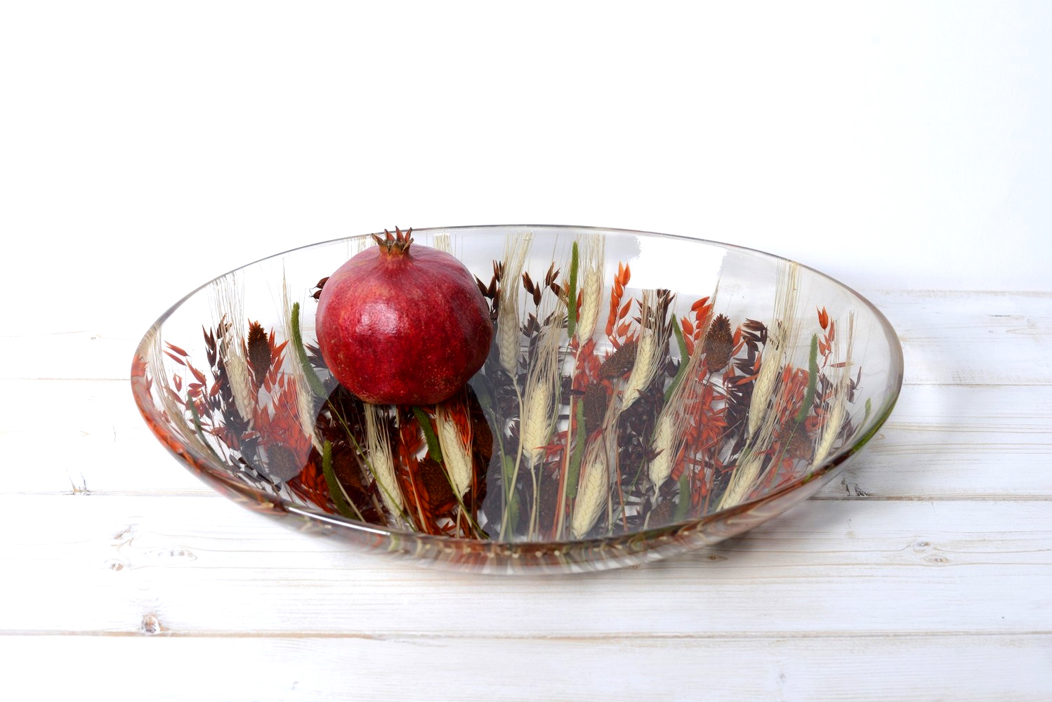 Oval Tray/Centerpiece Autumn Collection cm 32x46 h7