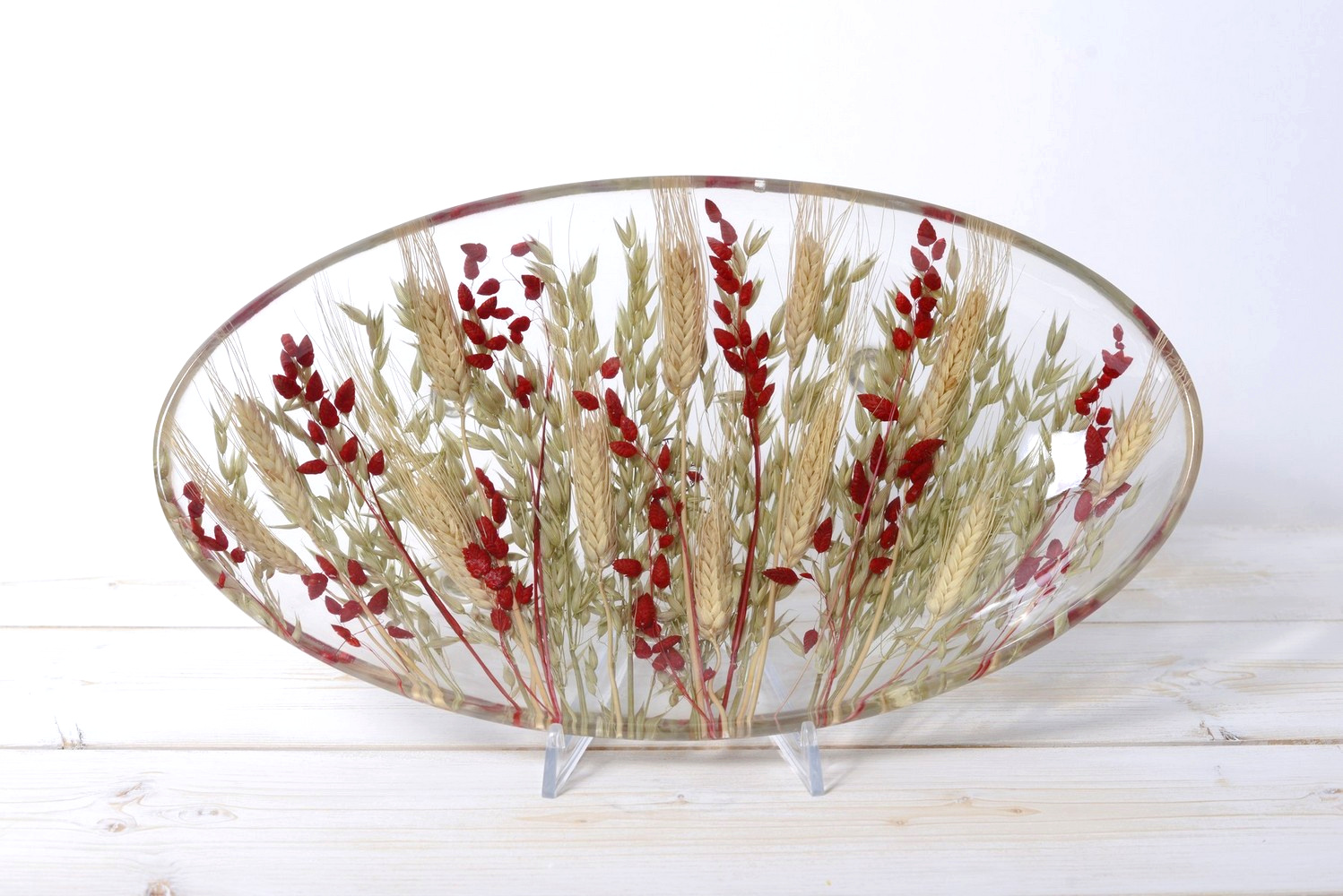 Oval Centerpiece Wheat in Red Collection
