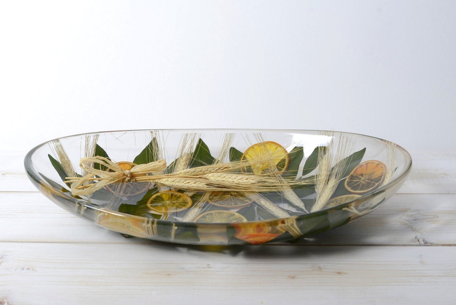 Oval Centerpiece Wheat and Orange Collection