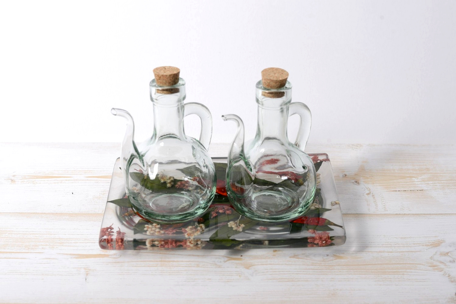 Oil/Vinegar Set Chili Collection cm 19x12 h15