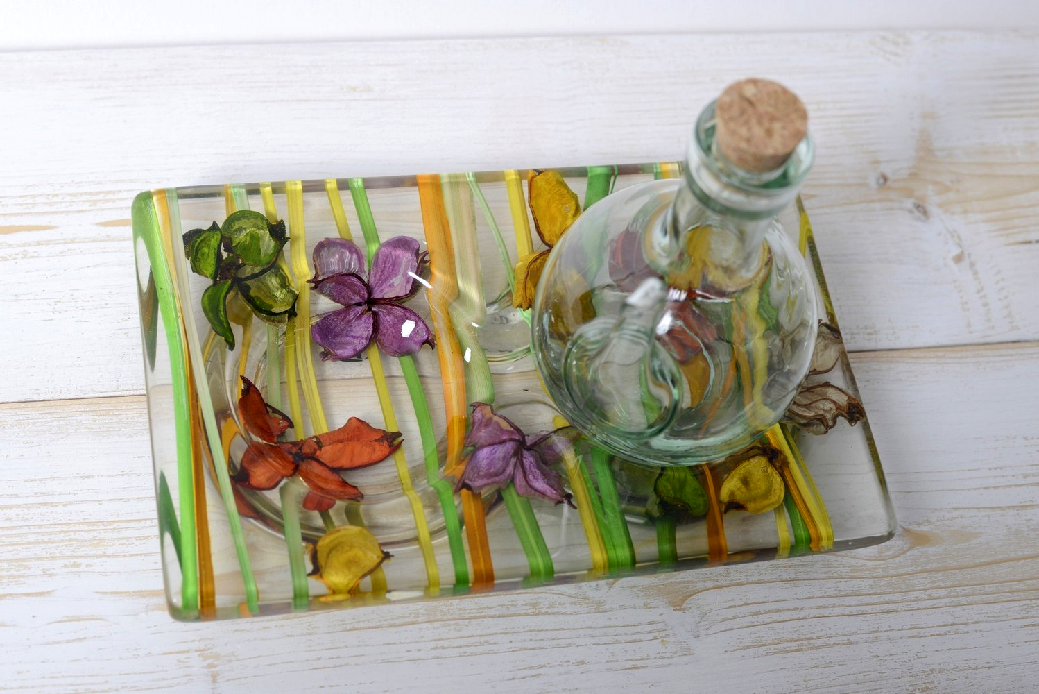 Oil Vinegar Set Butterfly Collection cm 19x12 h15