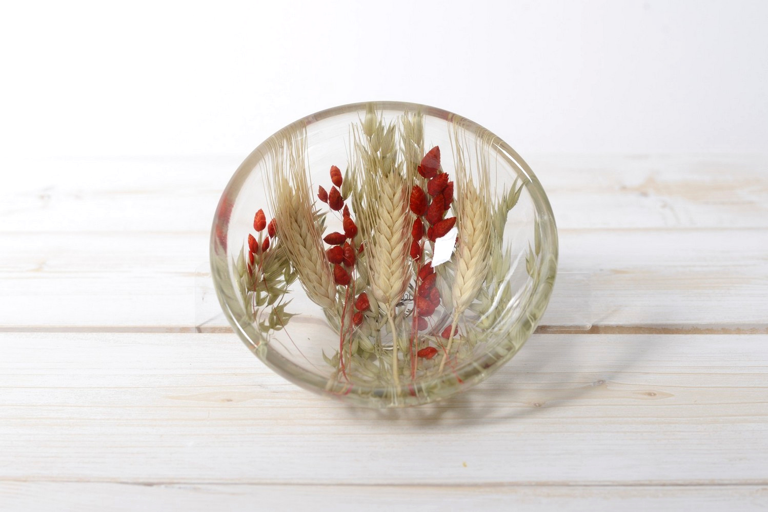 Small Round Bowl Wheat in Red diam cm 14 h6