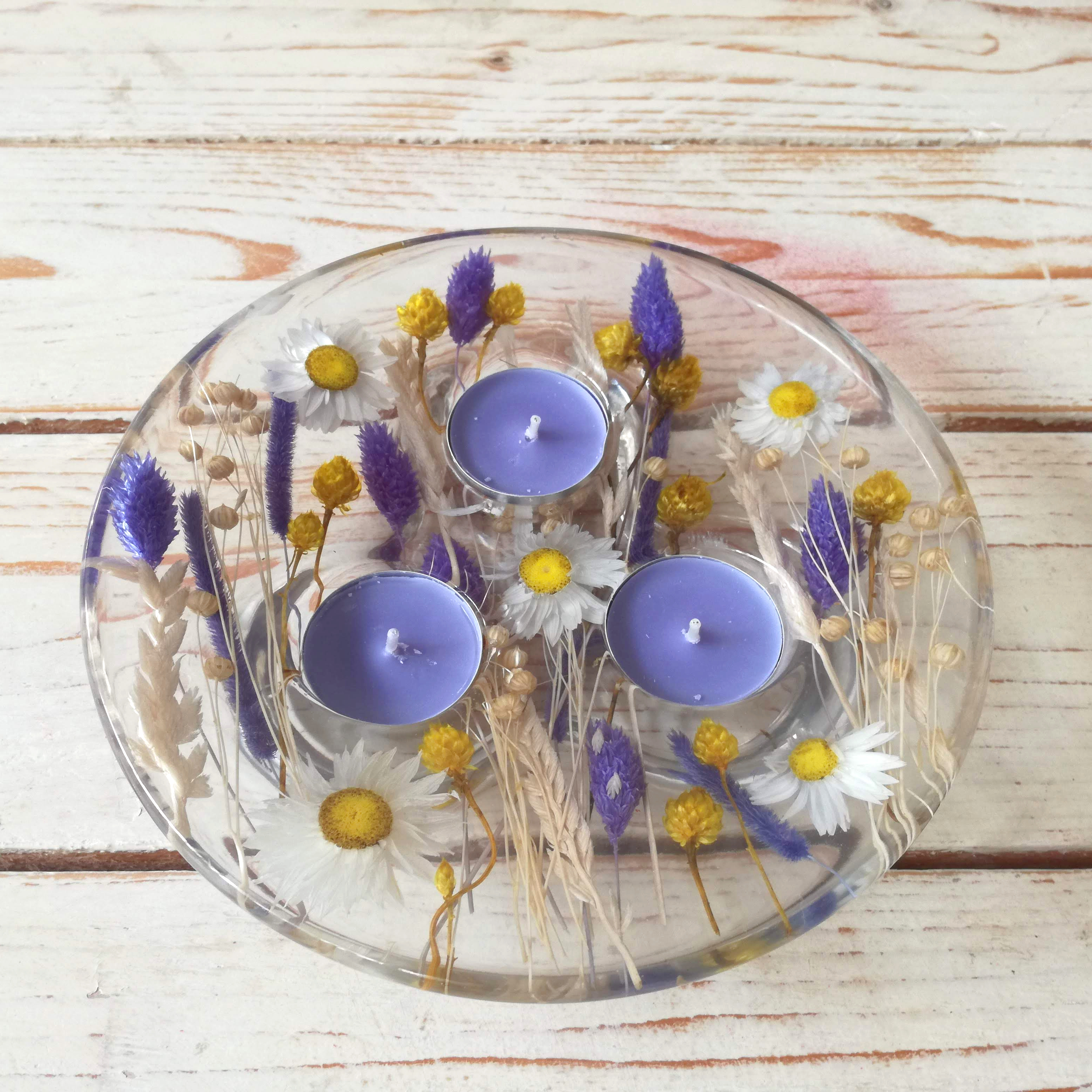 Candle holder Lilac Collection diam 20 h4