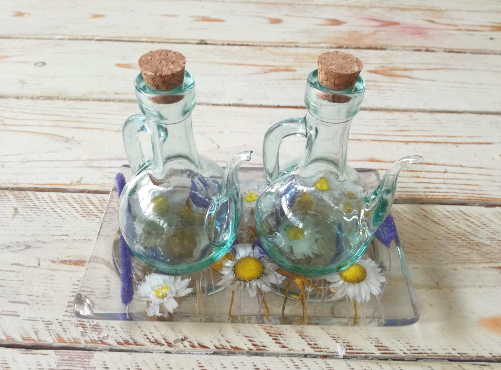 Oil Vinegar Set Lilac Collection cm 19x12 h15