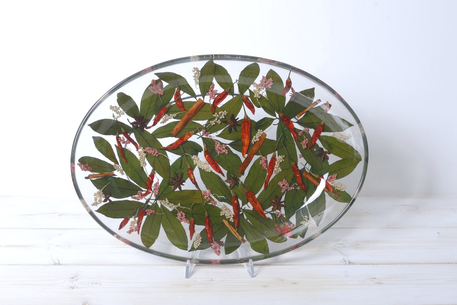 Oval Tray/Centerpiece Chili Collection cm 32x46 h7