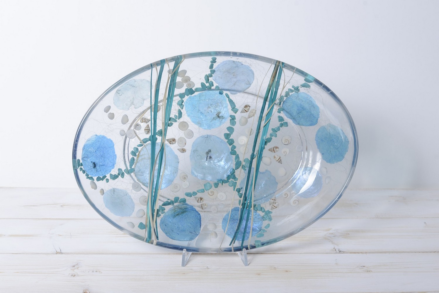 Oval tray/centerpiece Tiffany Collection cm 32x46 h7