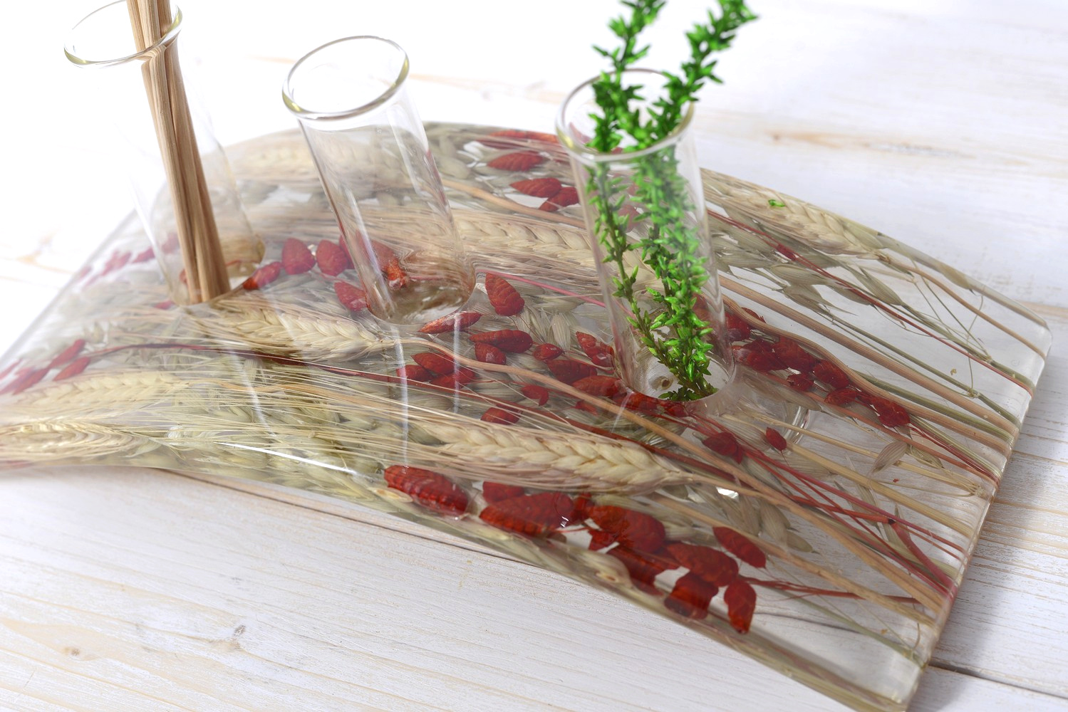 Flower vase/fragrance diffuser Wheat in Red Collection cm 27x12 h 15